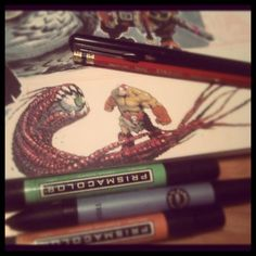 Managed to squeeze a small sketch on the pg #art #battleberzerkerbalto #markers  (Taken with instagram)