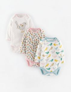 3 Pack Bodies Gift Set 71447 Newborn at Boden