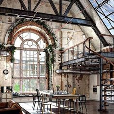 "680 харесвания, 11 коментара – HOME OF GENTLEMEN™ (@homegentlemen) в Instagram: ""• Industrial living - Bohemian Loft style Rive Gauche St Germain des Près, Paris What do you…"""