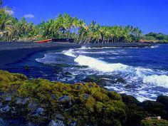 Black Sand Beach..Hawaii