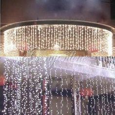 224 White LED Curtain Fairy Waterproof Light For my room!