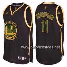 Camiseta nba Golden State Warriors klay thompson  11 camuflaje moda negro 2d2c290854e