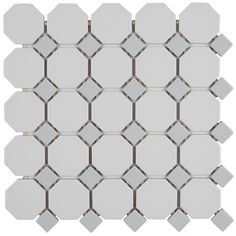 Itona Tile Osmond x Ceramic Octagon and dot Mosaic Wall & Floor Tile Ceramic Mosaic Tile, Ceramic Subway Tile, Marble Mosaic, Mosaic Wall, Mosaic Glass, Wood Mosaic, Mosaic Bathroom, Stone Mosaic, Porcelain Tile
