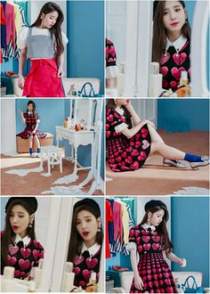 #heejin #vivid #loona Aesthetic Collage, These Girls, Pastel Colors, Flower Power, Girl Group, Chiffon, Fashion Outfits, Lady, Unique