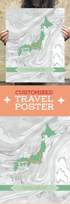 Hip and Modern Custom Travel Map for the Perfect Gift. Professionally designed and high quality. #art #decor #travel #travelmap #customtravelmap #customgifts #personalized #personalizedgifts #etsyseller #hipmytrip #poster #travelbuddy