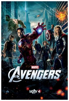 The Avengers (2012) -Robert Downey Jr., Chris Evans, Chris Hemsworth, Mark Rufallo, Scarlett Johansson, Jeremy Renner, Tom Hiddleston, Samuel L. Jackson