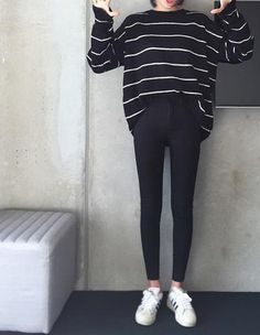 thin waist jeans nine Korean female grey legging feet pencil pants 9 black women jeans