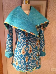 Rhonda's Creative Life: The Kantha Quilt Jacket Almost Finished and Something to Think About