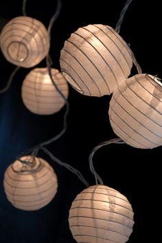 """Party Lights White  Paper 3.5"""" Lanterns String Lights $9.99 set / 3 for $9 set"""