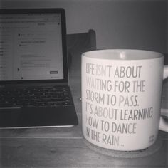 "Nothing like a cup of tea in a ""stormy"" day :) #working #home"