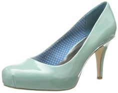 #saucy Madden Girl Women's Gettaw Synthetic Dress Pump,Mint Patent,9.5 W US