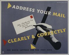 Address your mail clearly & correctly: via British postal museum and archive