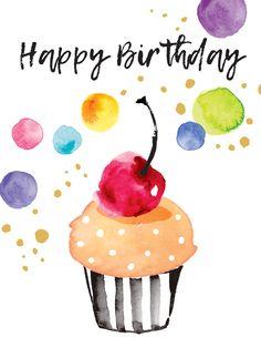 happy birthday wishes Liz Yee Happy Birthday Wishes Cards, Happy Birthday Pictures, Bday Cards, Happy Birthday Quotes, Birthday Blessings, Happy Birthday Cupcakes, Birthday Fun, Happy Birthday Rainbow, Sister Birthday