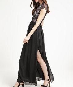 Reiss ELIZA Długa sukienka czarna balowa black