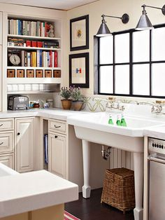Spotlight important areas of the kitchen with strategically installed lights. Use wall-mount lamps to illuminate work zones, such as the sink, island, and stove top./