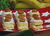 Quadradinhos Folhados com Bananas Carameladas do Daniel Bork