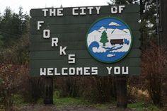 Visit Forks, Washington.