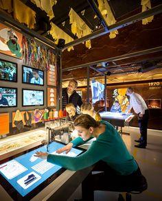 The new visitor centre of the Danish shoe company ECCO has opened in Bredebro… Table Interactive, Interactive Presentation, Interactive Exhibition, Interactive Installation, Exhibition Display, Museum Exhibition, Exhibition Space, Interactive Design, Installation Art
