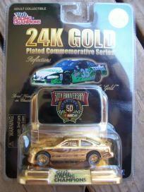 NASCAR RACING CHAMPIONS 1998 ADULT COLLECTIBLE 24K GOLD #35 FREE SHIPPING!! Nascar Racing, Diecast, Champion, Lunch Box, Free Shipping, Gold, Bento Box, Yellow