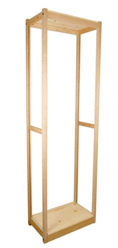 18 Inch Freestanding Solid Wood Closet
