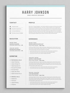 Resume Template Modern & Professional Resume Template for If you like this cv template. Check others on my CV template board :) Thanks for sharing! Resume Layout, Job Resume, Resume Format, Best Resume, Resume Tips, Resume Writing, Resume Ideas, Project Manager Resume, Resume Design Template
