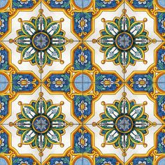 """Graniti"" decor - handpainted 11.8x11.8 inches tiles / piastrelle cm 30x30 decorate a mano"