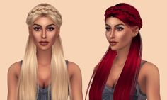 Anto Surrender Hair Retexture at Kenzar Sims • Sims 4 Updates