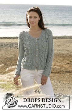 Ravelry: 101-7 Cardigan with bobbles and lace pattern pattern by DROPS design