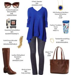 My weekly outfit - https://mystylit.com - brown riding boots and brown bag outfit for fall
