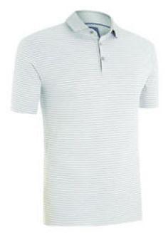 Polo Ashworth Premium Cotton Interlock Stripe. Polo de algodón Ashworth con rayas para caballero. Cuello de 3 botones. Polo de golf muy versátil y transpirable, gracias al algodón PRIMA TEC.