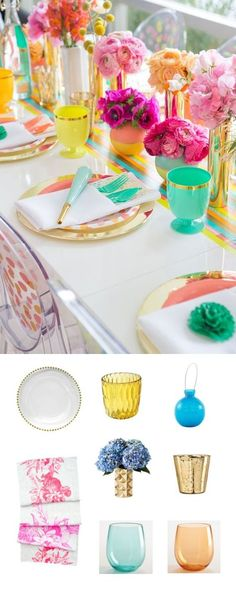 brighten up your table with colorful and playful accents