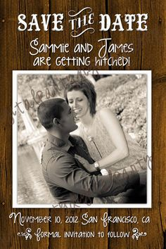 Country Western Save the Date Announcement 4x6 or by DigitalParty, $9.00