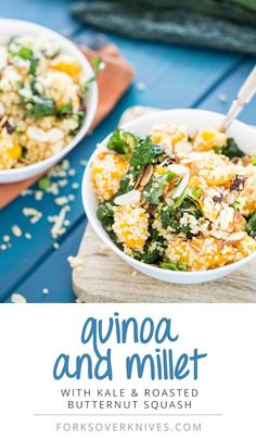Quinoa with Kale and Roasted Butternut Squash