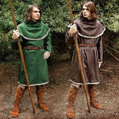 early middle ages tunic with Boots- the boots reached the calf and were worn high