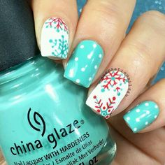 Easy Christmas Nail Art Designs for Short Nails – Snowflakes Loading. Easy Christmas Nail Art Designs for Short Nails – Snowflakes Holiday Nail Art, Christmas Nail Art Designs, Winter Nail Art, Winter Nail Designs, Winter Nails, Diy Christmas Nails Easy, Nail Art For Christmas, New Years Nail Designs, Christmas Crafts