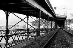 Eiffel bridge and the railway line - Viana do Castelo city - Portugal