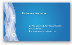 blue-personal-business-card  | template Photoshop PSD Kartu Nama Unik Menarik Cantik