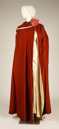 House of Worth (French, 1858–1956). Evening dress, 1935-36. The Metropolitan Museum of Art, New York. Gift of Ursular Squier Reimer, in memory of Mrs. J. Bentley Squier, 1956 (C.I.56.47.3a–c) #reddress