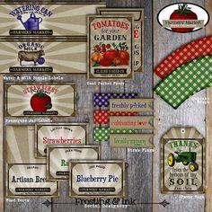 pdf printable - Farmers' Market Party Vintage John Deere by frostingandink