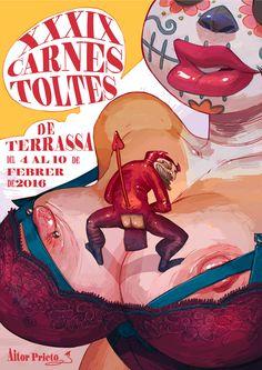Erotic Carnival poster. Terrassa City 2016 on Behance