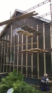 Preparing a home in southern Finland for new siding. Finland, Home Remodeling, Southern, Places, Wood, Woodwind Instrument, Timber Wood, Trees, House Remodeling