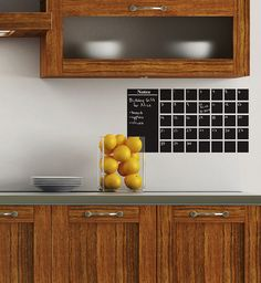 A Small Chalkboard Calender Wall Decal with by WilsonGraphics, $23.00