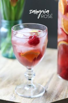 The perfect Rosé Sangria cocktail recipe for summer entertaining! #rosé #sangria #cocktail #wine #summer Fruity Sangria Recipe, Sangria Cocktail, Rose Sangria, Sangria Recipes, Drinks Alcohol Recipes, Summer Cocktails, Drink Recipes, Sangria Wine, Cocktail Parties