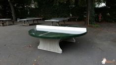 Pingpongtafel Rond Groen bij Justus-Liebig-Schule in Darmstadt