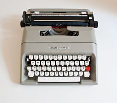 Mid Century Olivetti Lettera Typewriter