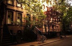 Perry Street brownstones by Vivienne Gucwa