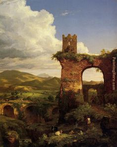 Thomas Cole Paintings | Thomas Cole - Thomas Cole Arch of Nero Painting