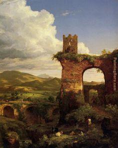Thomas Cole Paintings | Thomas Cole - Thomas Cole Arch of Nero Painting