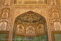 Amer Fort 013: A closer look reveals how beautiful it's design is. Amer Fort, Rajasthan India, How Beautiful, Closer, Taj Mahal, Photography, Design, Goa India, Photograph