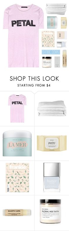 """""""i'm second guessing real life"""" by kristen-gregory-sexy-sports-babe ❤ liked on Polyvore featuring Christopher Kane, Frette, La Mer, philosophy, Butter London, Fig+Yarrow, Dogeared and country"""